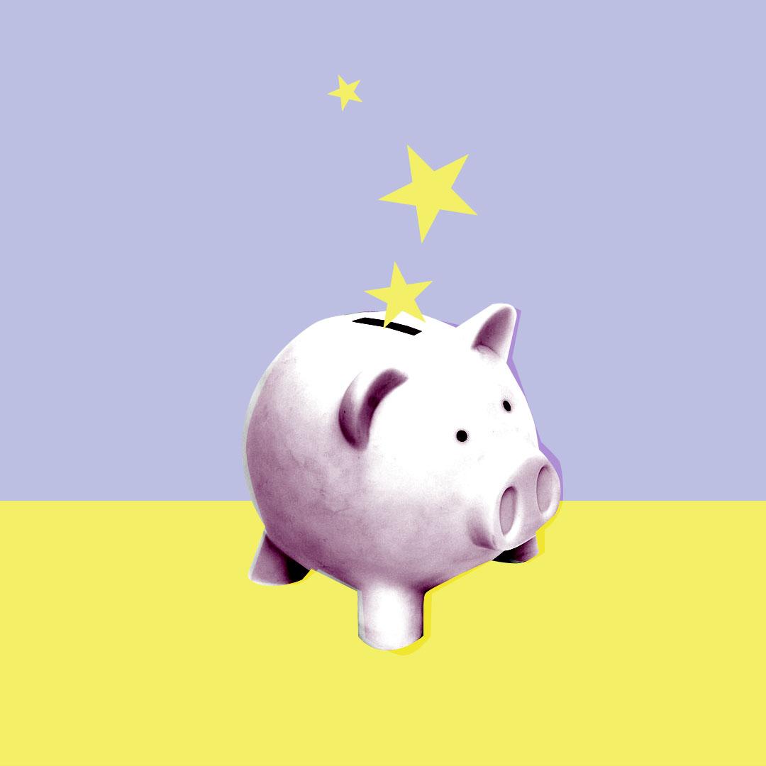 open saving account piggy bank