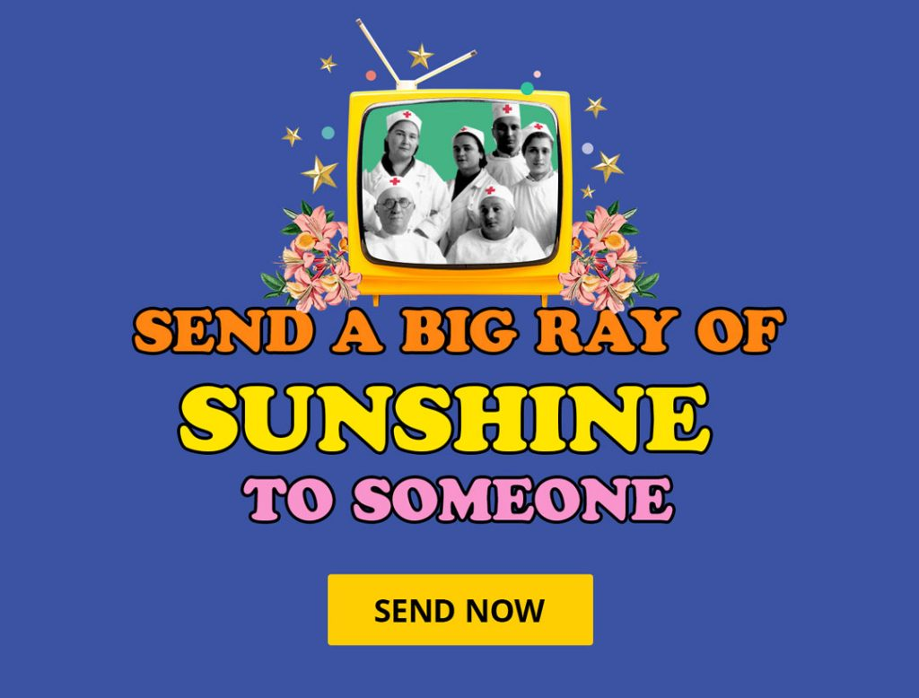send a big ray of sunshine to someone