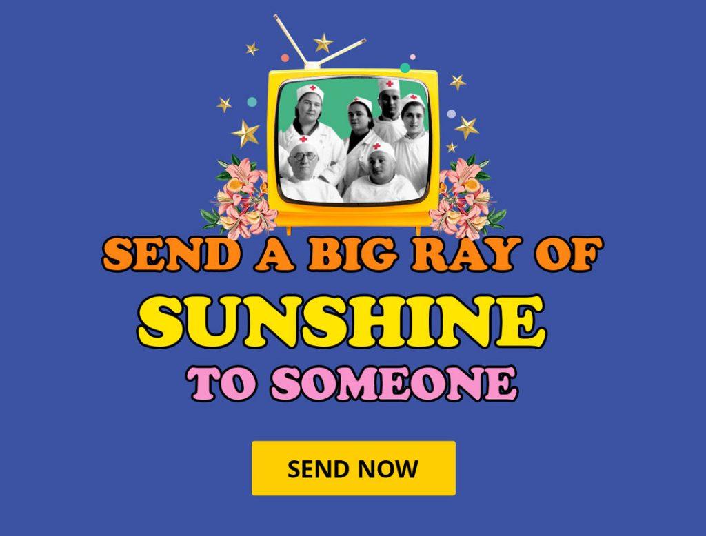 send a big ray of sunshine to someone