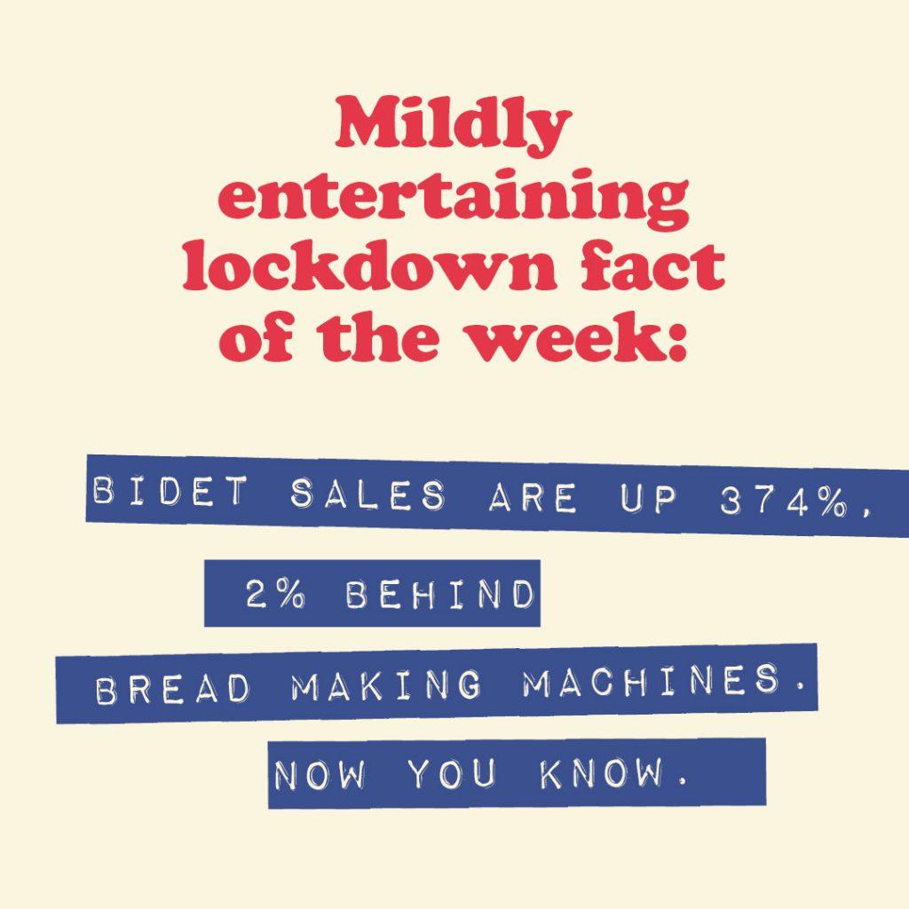 Mildly entertaining lockdown fact of the week