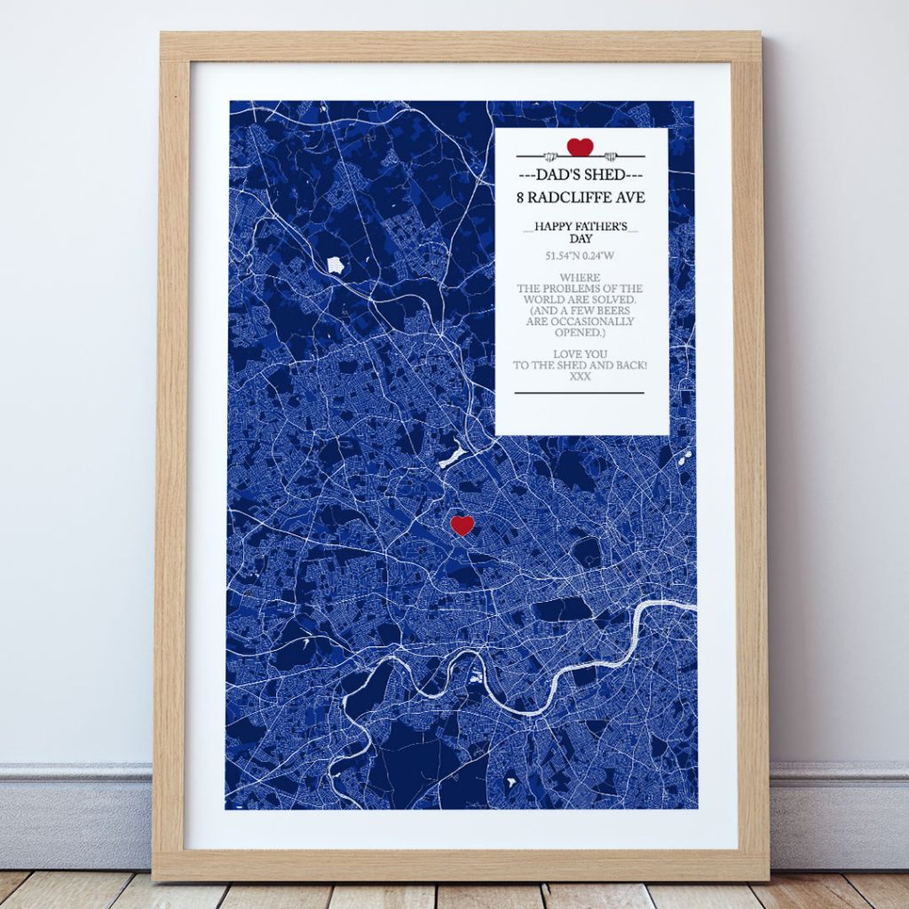 the map of everyone - father's day gift ideas