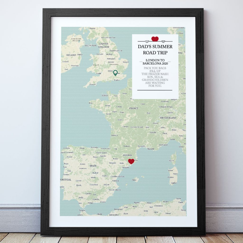 the map of everyone road trip - father's day gift ideas