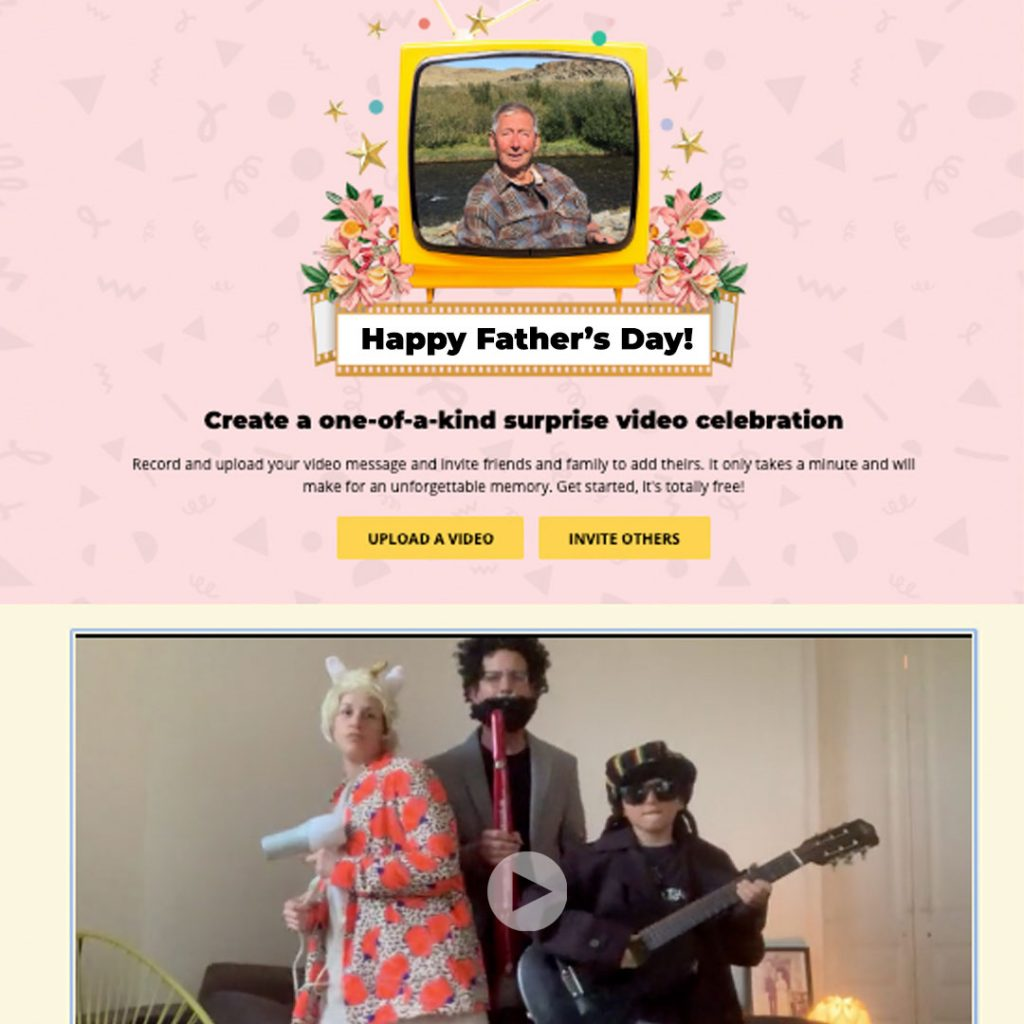 the video of everyone - father's day video gift ideas