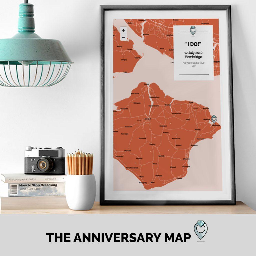Anniversary Wedding Engagement Map