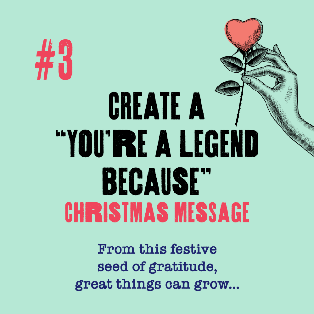 you're a legend because christmas message video celebration family 2020