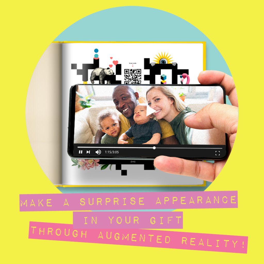 Make a surprise appearance in your gift through augmented reality