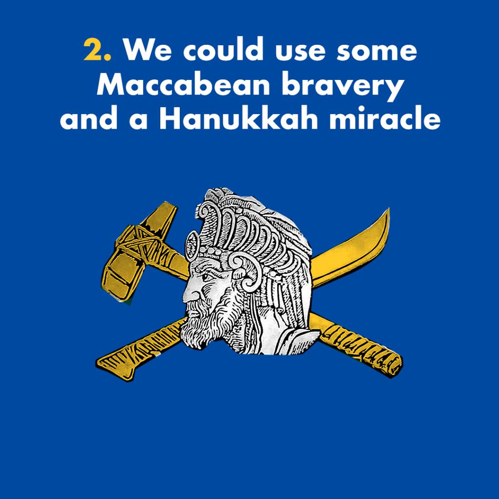 Maccabean bravery Hanukkah miracle Maccabees