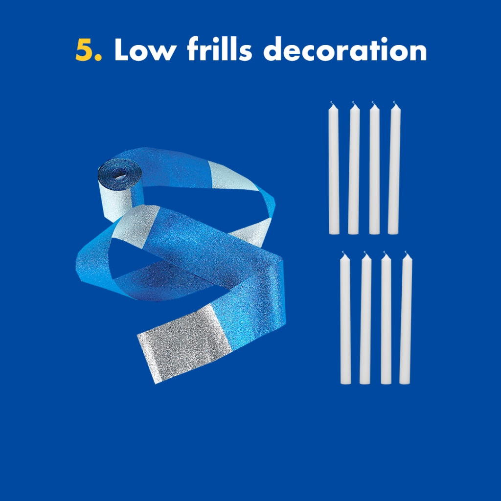 low frills decoration Hanukkah