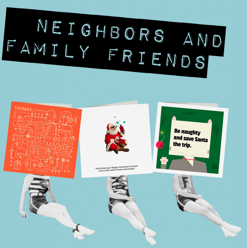 neighbours and family friends christmas cards