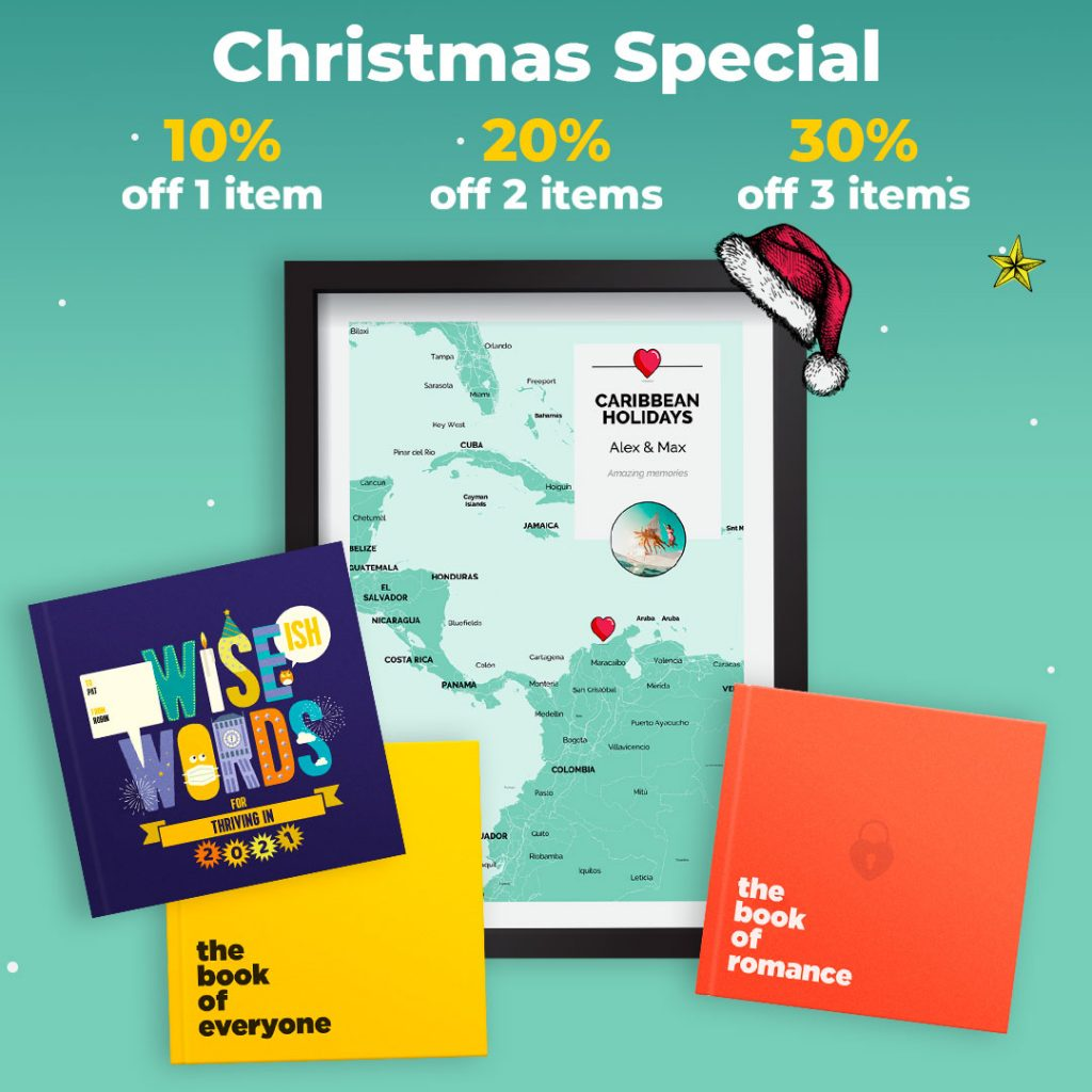 Christmas special sale discount books maps personalised gifts