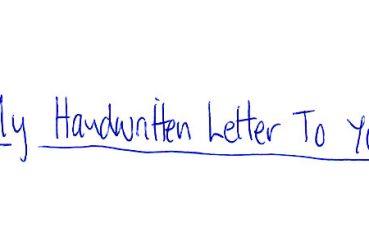 handwritten letter exchanger penpal