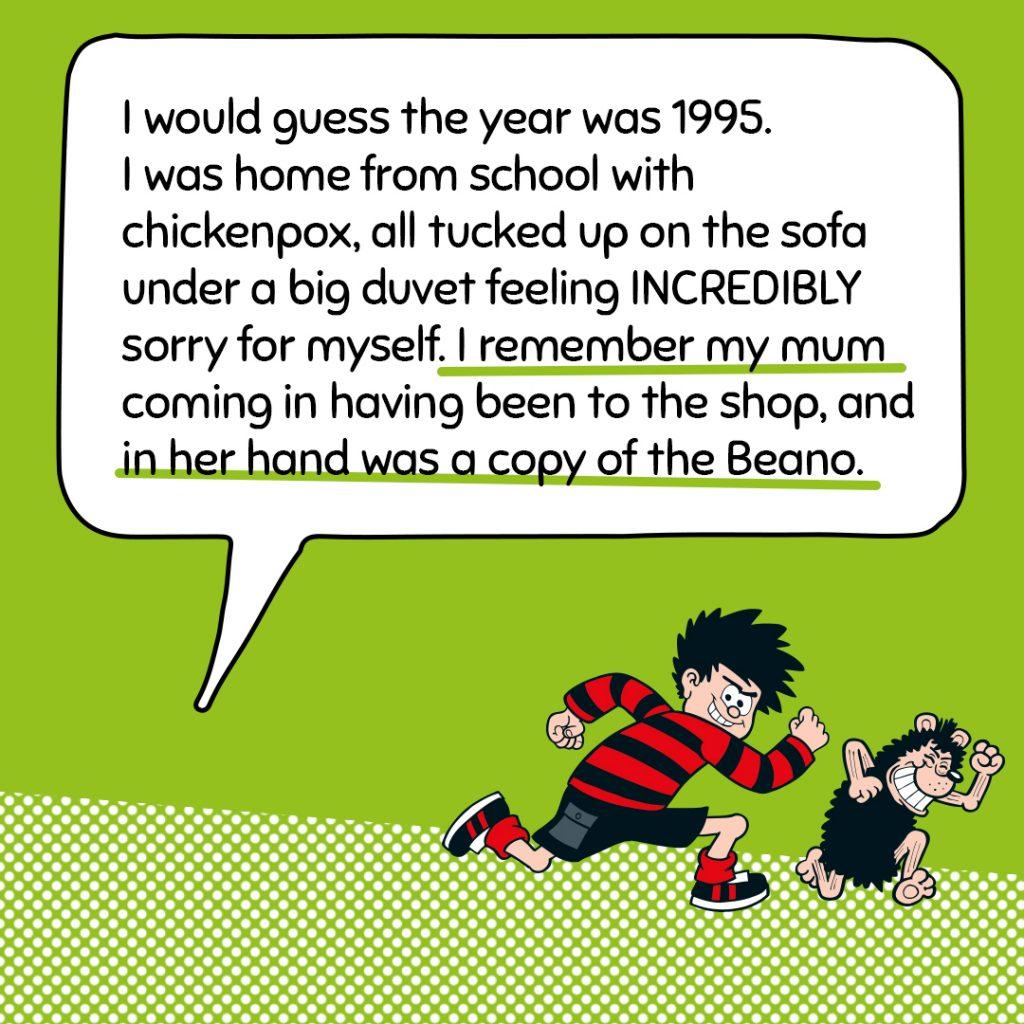 meaning beano comic book dennis menace gnasher mum