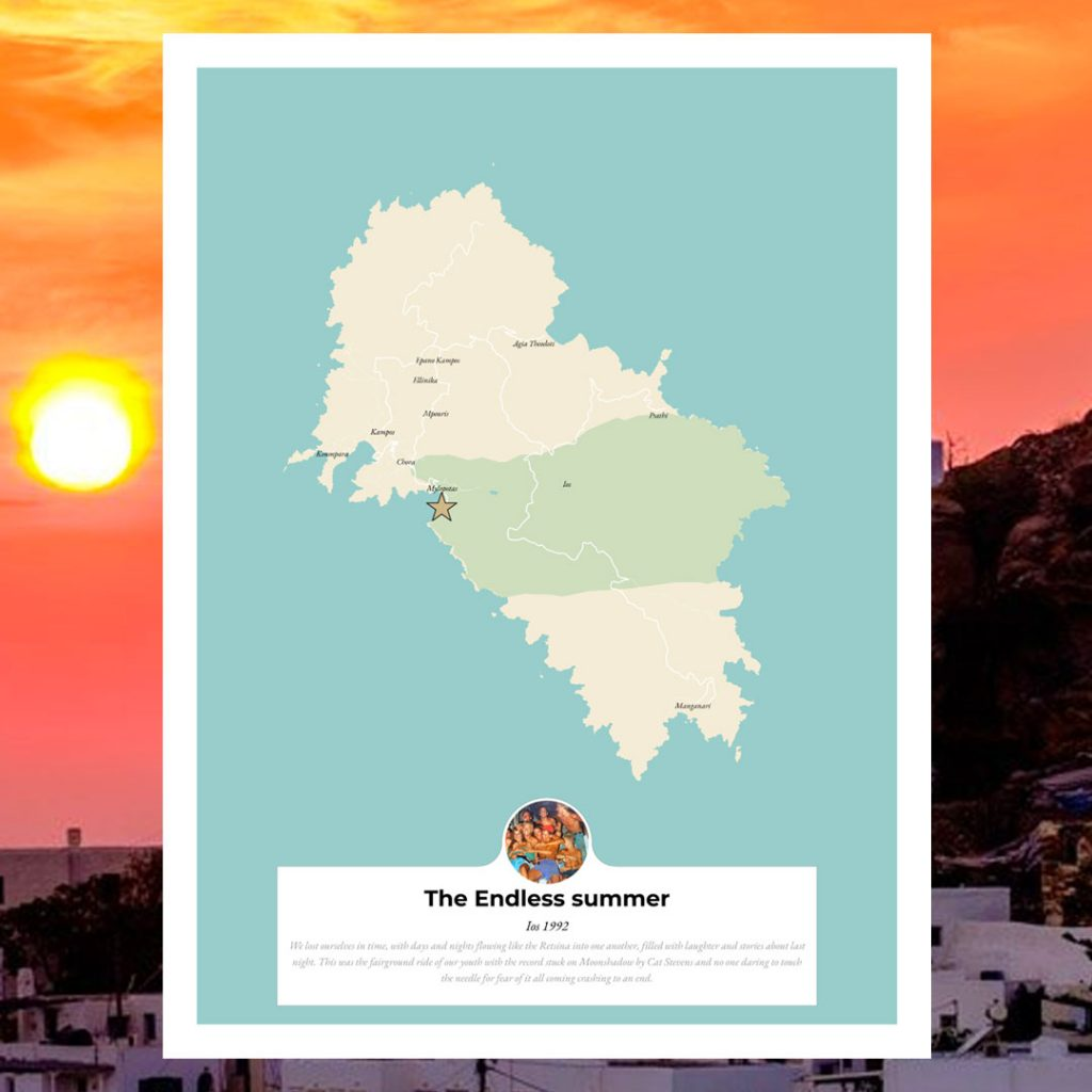 the endless summer map personalised greece ios friends