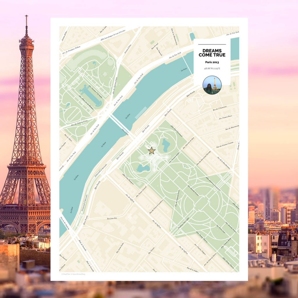 map dreams come true paris bucket list