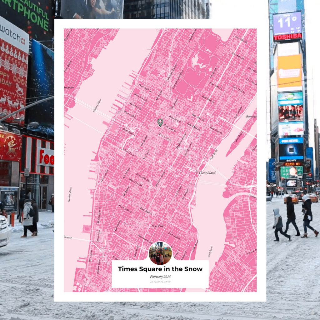 times square in the snow bucket list maps