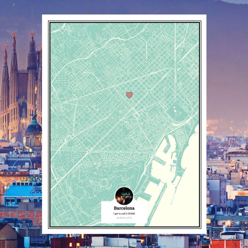 bucket list map barcelona new home