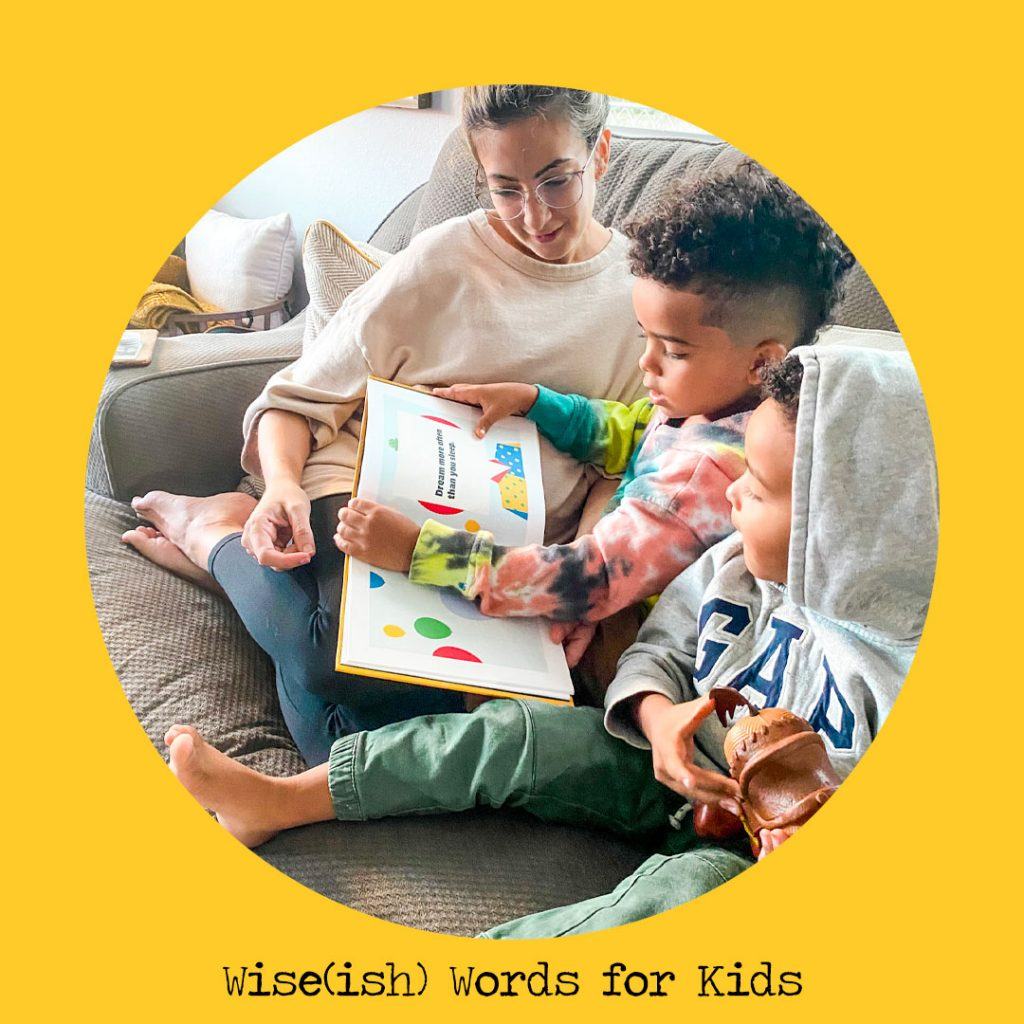 wiseish words for kids personalised books