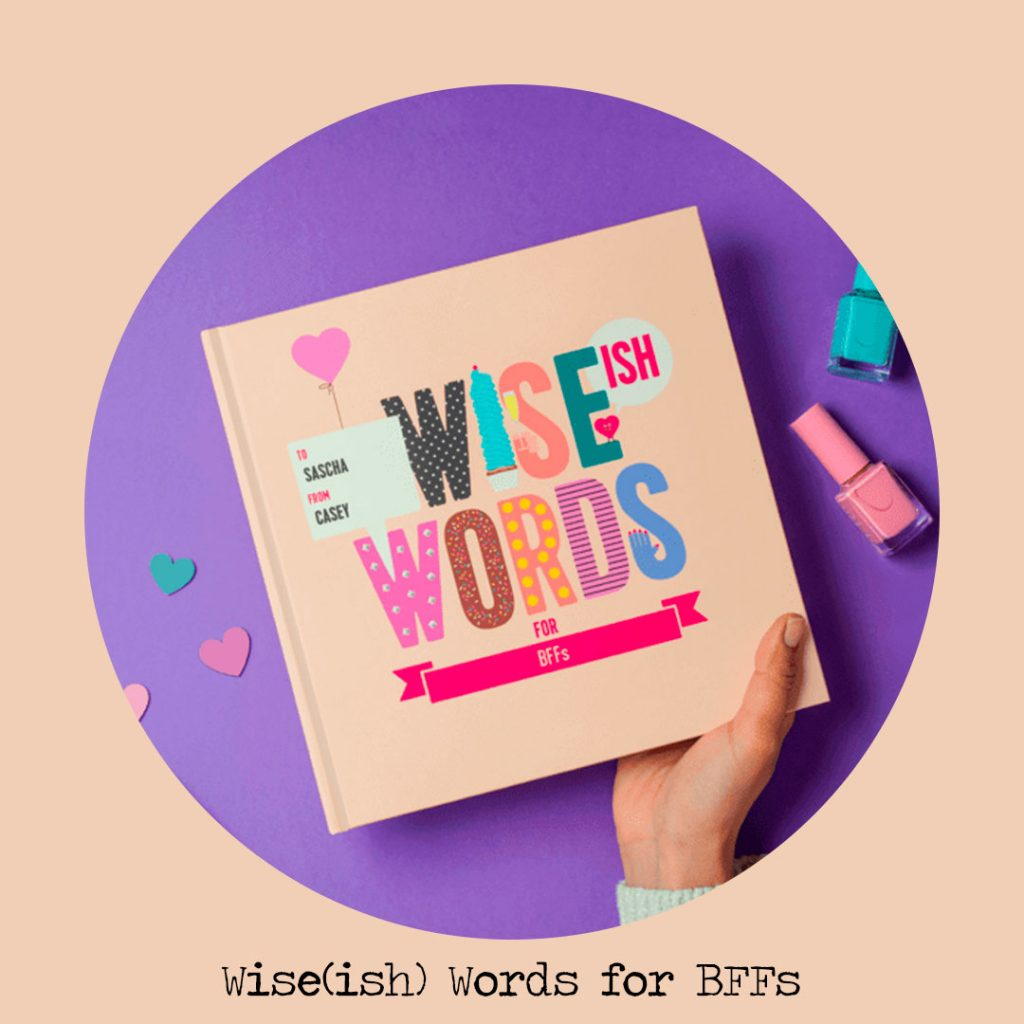 wiseish words for bff personalised books