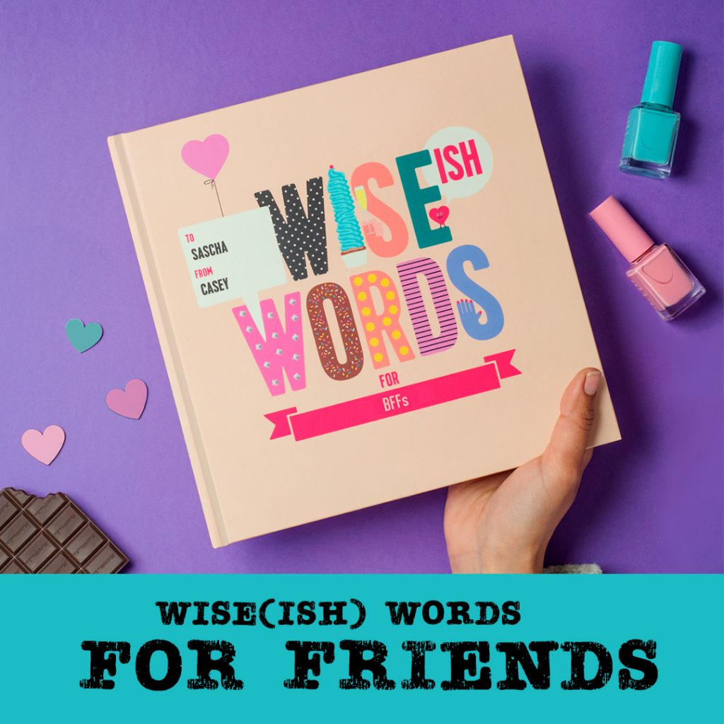 wise ish words for friends personalised gifts