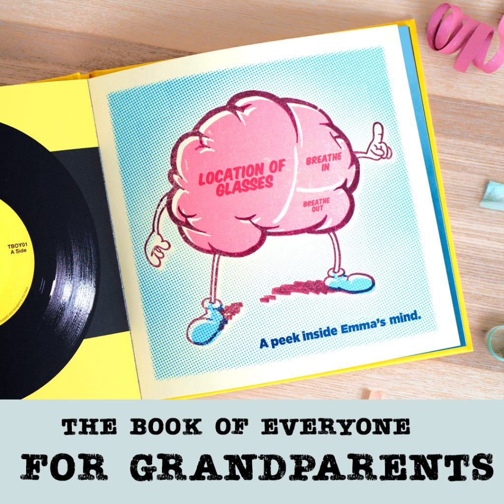 the book of everyone for grandparents personalised gifts
