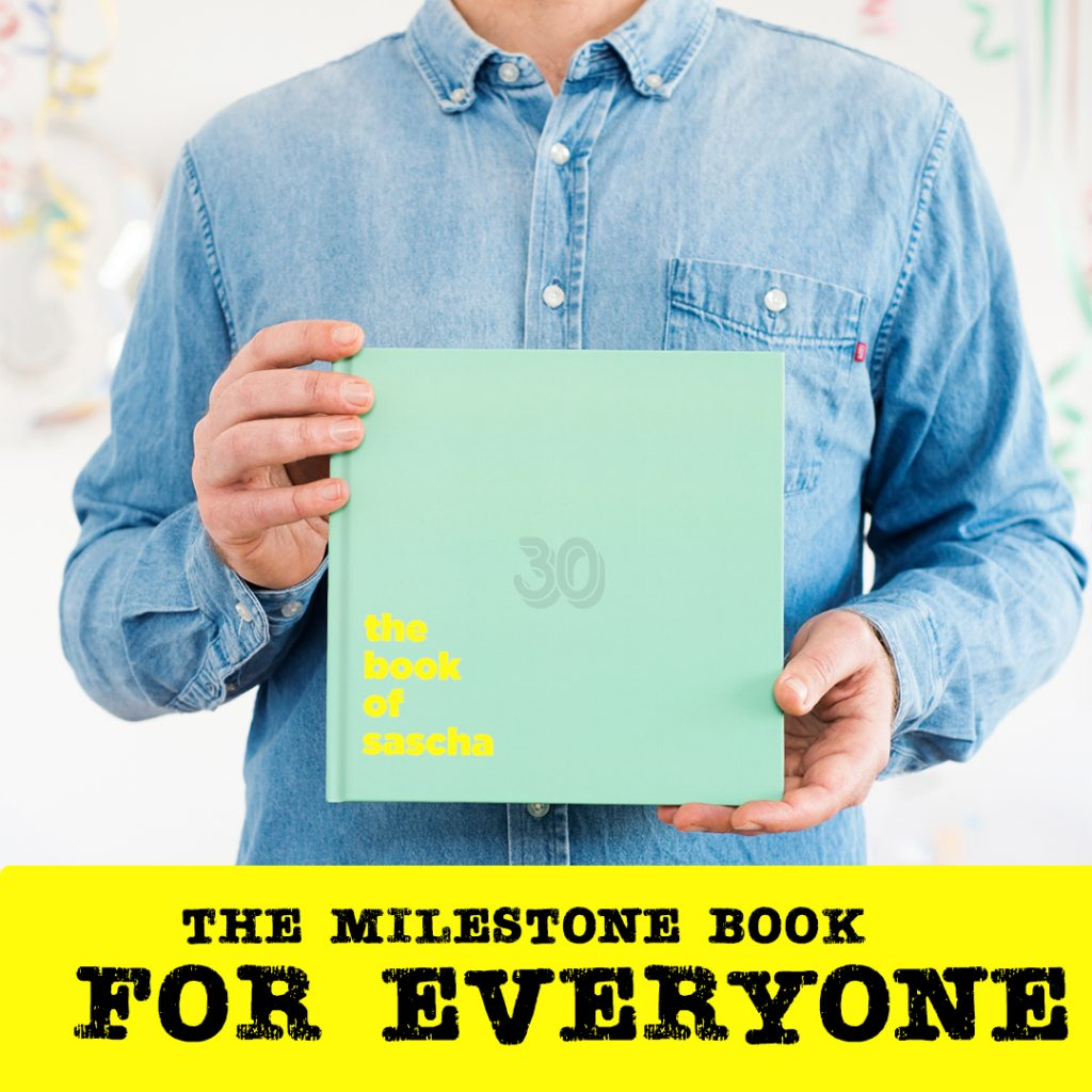 the milestone book for everyone personalised gifts