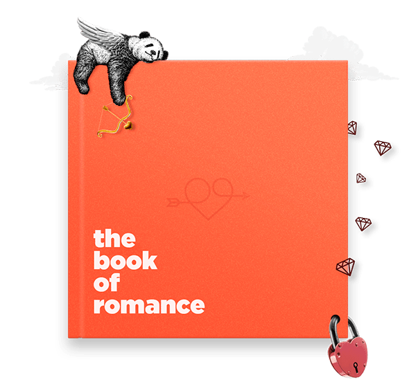 Romantic personalised book for your love